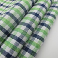 100% Cotton Slub Check Fabric For Shirts