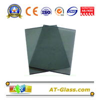 4mm 5mm Dark grey Reflective float glass Coated glass Building glass
