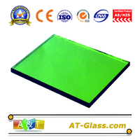 4mm 8mm Dark green Reflective glass Curtain wall coated glss