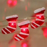 Christmas Stocking string lights with Try me,B/O 25 LED SMD  KF67065-25L
