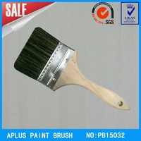great hair brush paint brushes with black bristle and wooden handle