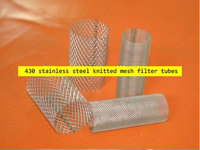 430 stainless steel knitted mesh filter tubes