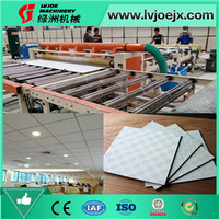 Gypsum Board Ceiling Tile Cutting, Edge Sealing, Packaging Machine for Lamination Line