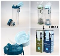 650ml sports water Bottle with tea filter and straw