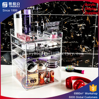 custom clear rotating makeup lip gloss organizer spinning cosmetic stand rack acrylic lipstick tower/acrylic lipstick holder