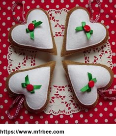 wool felt Christmas ornaments