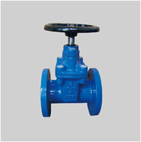 AWWA C509 125S ductile iron resilient seat gate valve NRS flanged ends