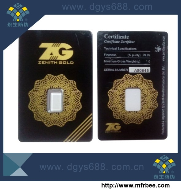 tamper_proof_gold_coin_plastic_packing_card