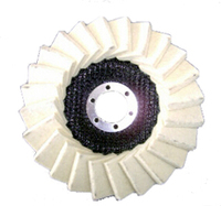 Wool felt flap disc