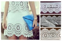White color fabric laser cutting