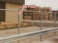 Commercial Chain Link Fence Post