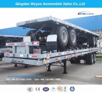 2 Axles 40FT Flat Bed Semi Trailer