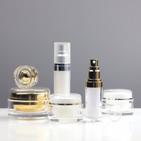 cosmetic packaging acrylic cream jars bottles lotion bottles airless bottles