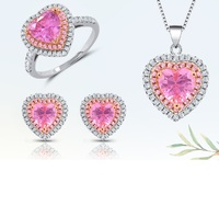 Hot Sale Stylish Modern Love Heart Jewelry Set