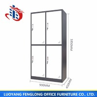 High Quality Four Door Metal Locker stainless steel filing cabinet design with low price