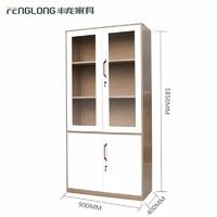 Office File Cabinet Glass Door Metal Filing Cabinet