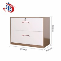 Commercial Office Openable 2 Drawers Display Steel Storage Filing Metal Wide Cabinet