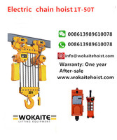 WOKAITE 25 ton electric chain hoist with eight chains