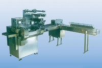 Fancy ice cream production line double cross to send automatic packaging machine