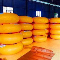 Inflatable Yellow Swing Ring For Children In The Water