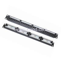 more images of Network Patch Panel Cat5e(Cat6e) 24 ports Cat5e 48 ports patch panel 19'' 1u