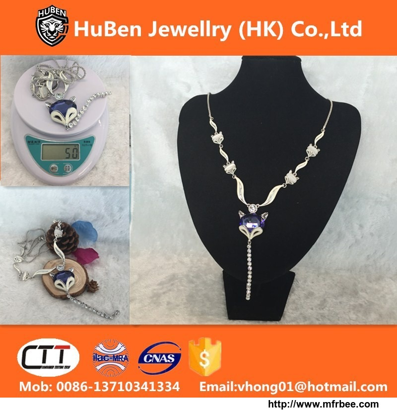 Fox Pendant Bead Necklace Wholesale China