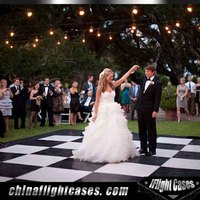 China Made Wooden Wedding Dance Floor Interactive White or Black Color Used Dancing Floor