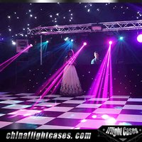 Durable Used Dance Floor Portable Wedding Black and White Dancing Floor for Sale