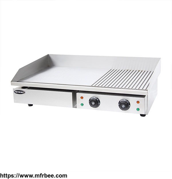 COMMERCIAL HALF GROOVED ELECTRIC GRIDDLE WITH CE APPROVED EG-822