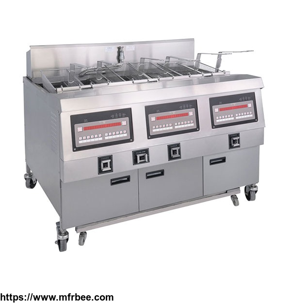 COMMERCIAL ELECTRIC OPEN FRYER WITH OIL FILTER SYSTEM FOR RESTAURANT OFE-323