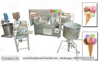 500-800pcs/h Ice Cream Sugar Cone Making Machine in Factory Price