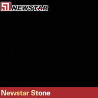 Newstar black quartz artificial stone tile