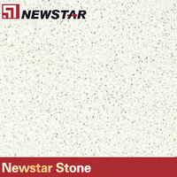 Newstar beige white composit stone tile