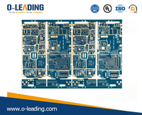 14Layer HDI PCB with BGA, 2.4mm board thickness, blue solermask, surface finished by Immersion Gold