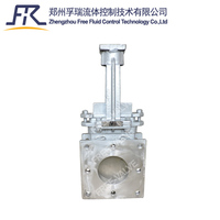 High temperature Square Flange Type Knife Gate Valve with 2520 stainless steel