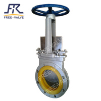 Bidirectional knife gate valves with polyurethane seat
