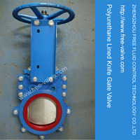 1 piece replaceable liner in Pu Knife Gate Valve