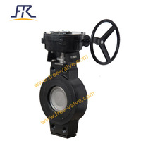 Worm gear box operation Wafer Type High Performance Butterfly Valve