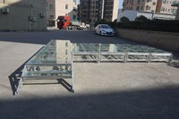 Wholesale Aluminum Portable Stage with Glass Platform for Fashion Show