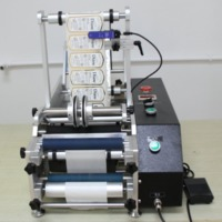 SEMI AUTOMATIC WINE BOTTLE LABELING MACHINE