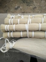 30 inch white horse tail hair for fiddle bow use