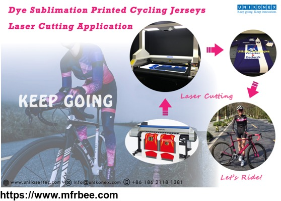 Unikonex laser cutting in dye sublimation printed jerseys