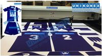 Dye sublimated fabric laser cutting