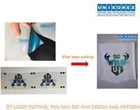 Customize sublimated twill laser cutting by Unikonex