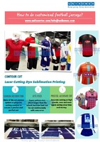 Unikonex laser cutting dye sublimated sports jerseys