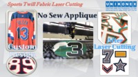 Permanent Sports Twill, No Sew Appliqué Cutting, tackle twill cutting