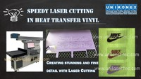 Unikonex speedy laser cutter in heat transfer vinyl