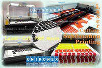 Unikonex laser cut sublimation printing textile and fabric