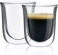 Mouthblown Borosilicate clear Double Wall Espresso Glass Coffee Cup