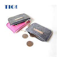 environmentally friendly fashion Felt wallet / money bag manufacturer